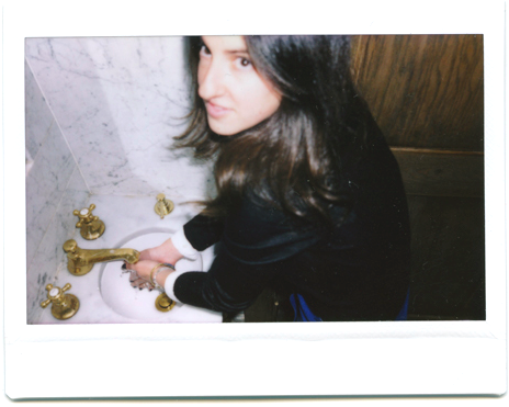 jackie with soap